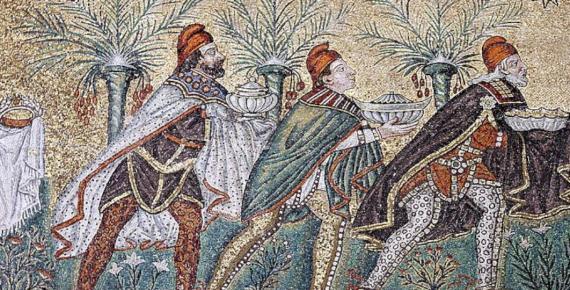 Three Magi mosaic - Sant'Apollinare Nuovo – Ravenna (José Luiz Bernardes Ribeiro/ CC BY-SA 4.0)