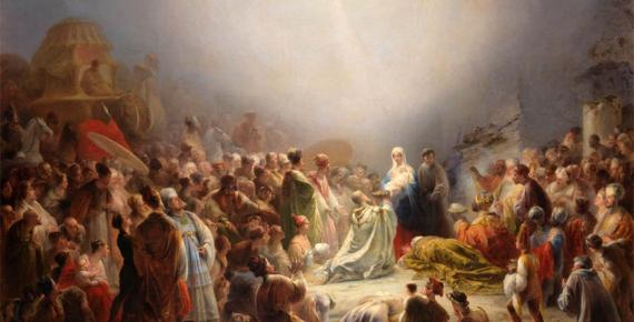 The Adoration of the Magi by Domingos Sequeira, (1828) (Public Domain)