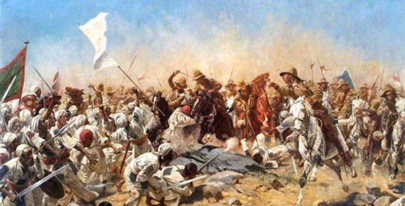 Charge of the 21th lancers at Ondurman. William Barnes Wollen (1857-1936)