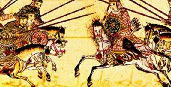 The Mongol heavy cavalry in a battle (13th–14th century)