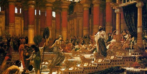The Visit of the Queen of Sheba to King Solomon by Edward Poynter (1890)