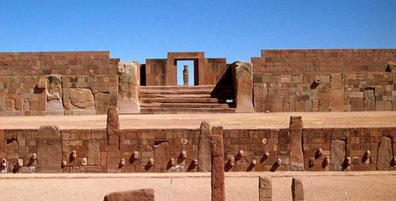 Ingreso al Kalasasaya, Tiwanaku, Bolivia