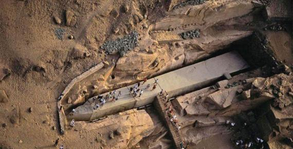 The Unfinished Obelisk at Aswan (Image: David H Childress)