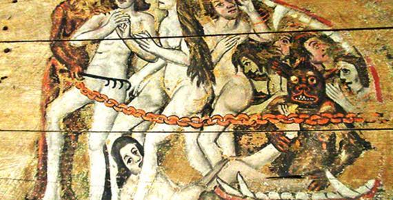 Detail of the Wenhaston Doom
