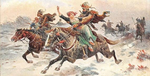 Kurdish Warriors by Frank Feller (1898) (Public Domain)