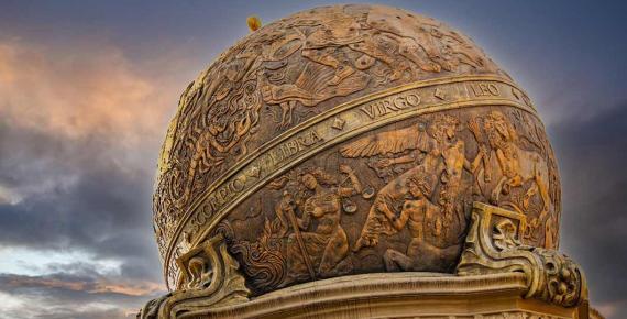 Zodiac signs sphere Chernivtsi, Ukraine ( Ruslan / Adobe Stock)