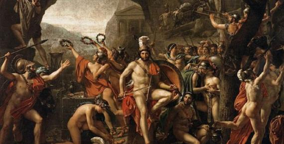 Leonidas at Thermopylae by Jacques-Louis David (1814) Louvre Museum (Public Domain)