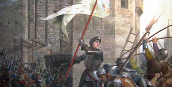 Detail; Joan of Arc at the Siege of Orléans by Jules Lenepveu