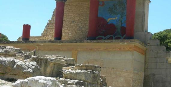 Knossos, Crete: View of the North Gate Fresco (Image: Micki Pistorius)