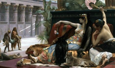 Cleopatra Testing Poisons on Condemned Prisoners by Alexandre Cabanel (1887) (Public Domain)