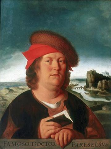 "The Louvre copy of the lost portrait by Quentin Matsys, source of the iconographic tradition of ""fat"" Paracelsus (Public Domain)"