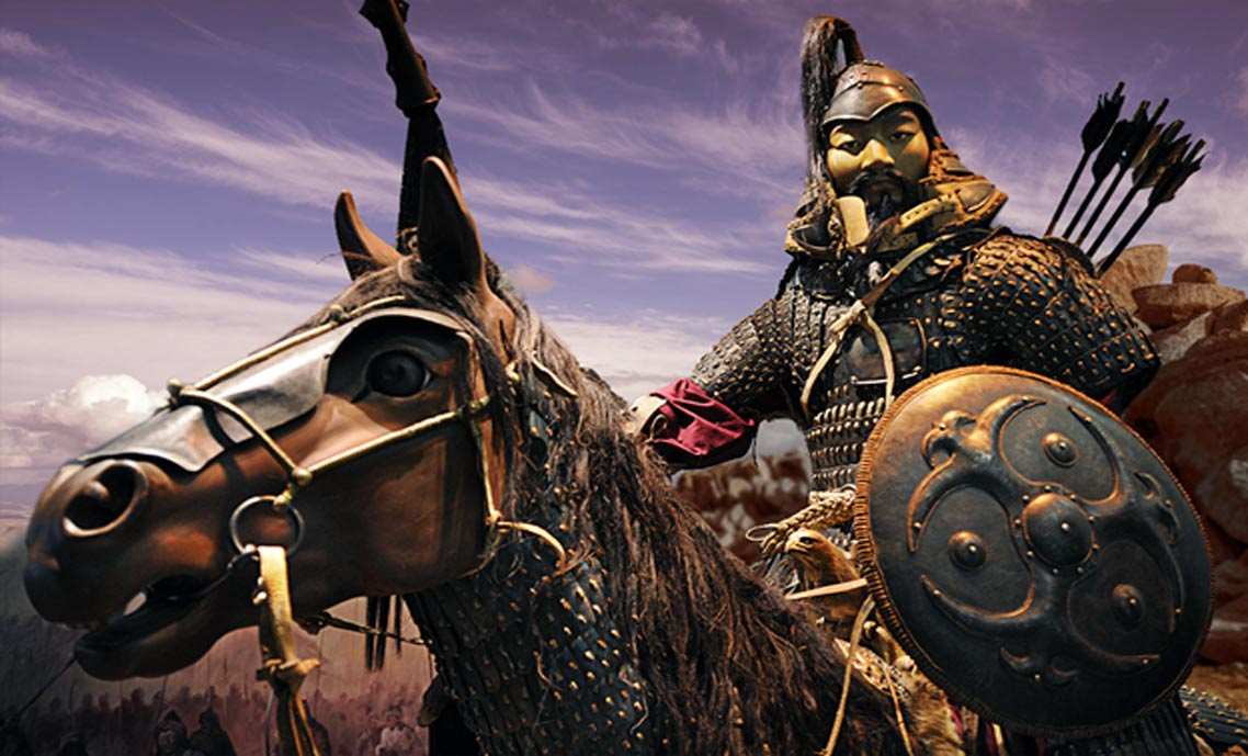 A Mongolian Cavalry recreation, from Genghis Khan: The Exhibition